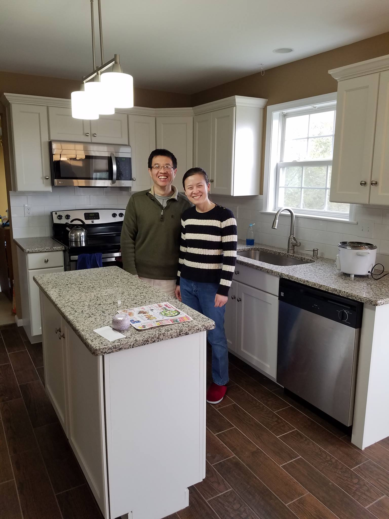 L&L Services remodeled this kitchen for a happy family in Berks County PA.