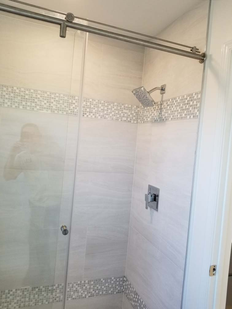 Bathroom remodel completed in Reading PA by L&L Services.