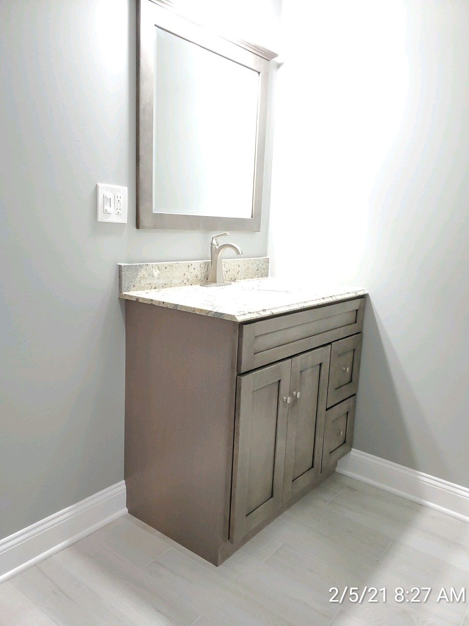 Bathroom remodel completed on a home in Harrisburg PA by L&L Services.